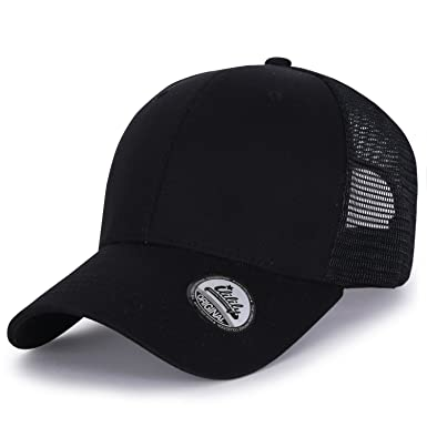 07c1776d066 ililily Extra Big Size Adjustable Mesh Back Curved Baseball Cap Trucker Hat  (ballcap-1258