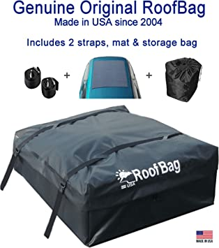 Amazon Com Roofbag Rooftop Cargo Carrier Bag Made In Usa 15 Cu Ft Standard Waterproof Luggage Car Top Carrier 1 Yr Warranty Fits All Cars With Side Rails Cross