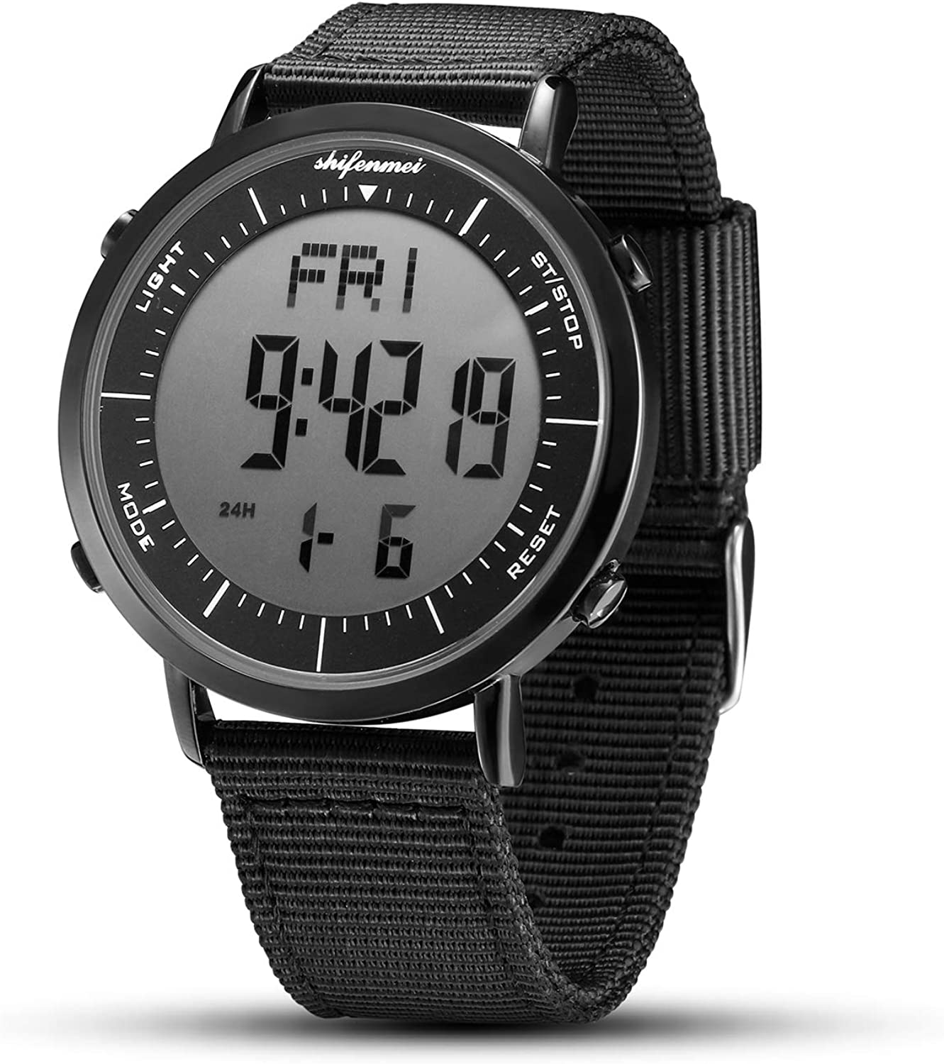 Digital Watches, shifenmei Digital Sports Watch Daily Alarm Hourly Chime Stopwatch 12 24H Date EL Backlight Military Outdoor Waterproof Multifunction Large Face Watches for Men Women Kids