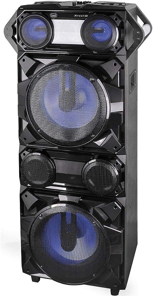 TALLA XF 4200 DJ. Trevi XFEST - Altavoz Amplificado con Efectos DJ XF 4200 DJ Negro