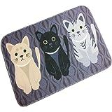 "Adasmile Novelty Cat Cartoon Mat Non Slip Decorative Floor Memory Foam Area Rug (15.7""x23.6"")"