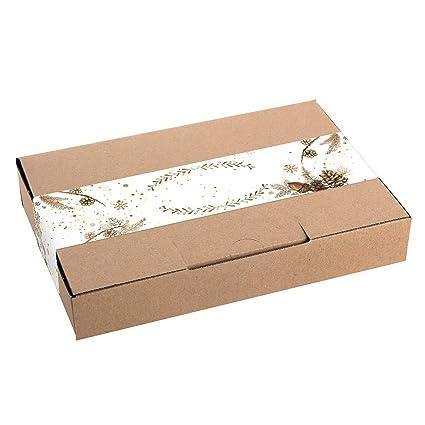 Logbuch-Verlag - Caja de papel de estraza para Navidad, caja ...