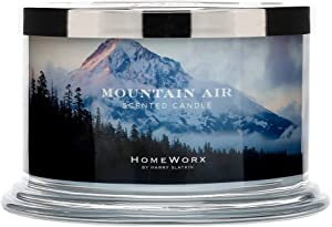 HomeWorx by Harry Slatkin 4 Wick Candle, 18 oz, Mountain Air - HMXC18-AZ-MA