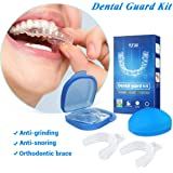 Y.F.M Professional Dental Guard - Thermoplastic Teeth Grinding Night Protector Stop Teeth Grinding & Eliminates Teeth Clenching - Teeth Whitening Tray - 2 Pairs with Storage Cases - BPA Free