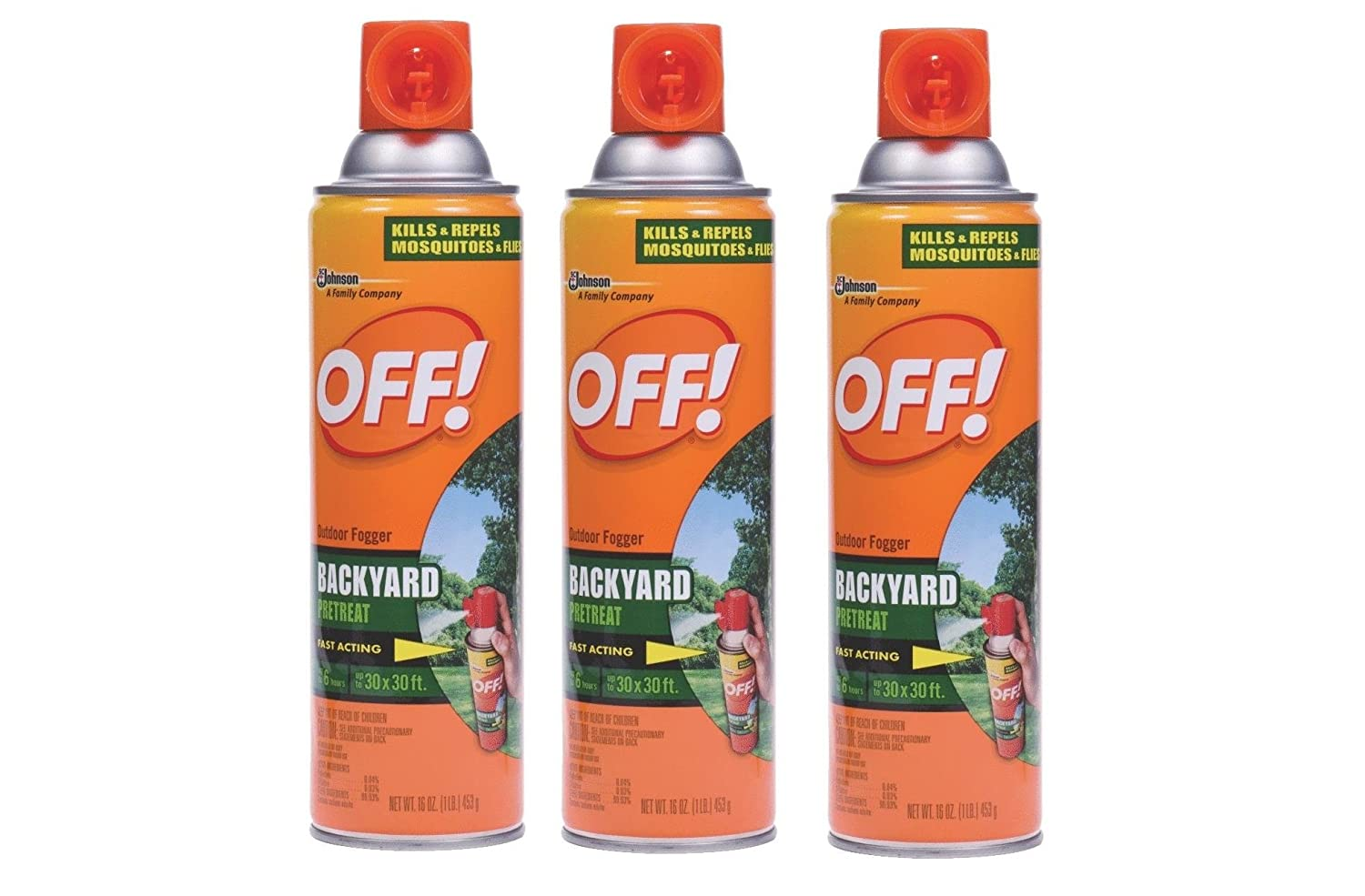 amazon com off yard and deck insect repellent pack of 3