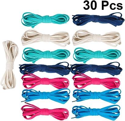 15 paia di lacci piatti e colorati per scarpe da ginnastica