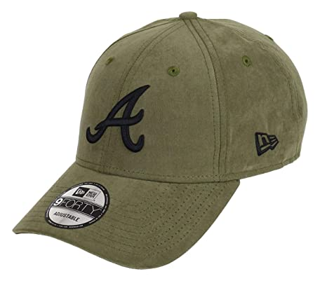 New Era Atlanta Braves New Era 9forty Adjustable cap League Essential Nylon  Green Black - 512018225d2b