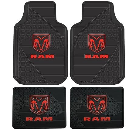 Amazon Dodge Ram Head Logo 4 Pc Floor Mats Set Automotive