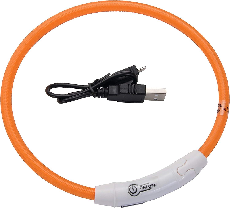 One Size COASTAL PET PRODUCTS Light UP Neck Ring Orange