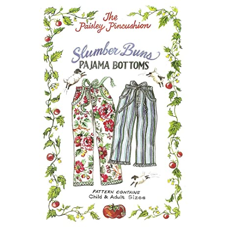 Amazon THE PAISLEY PINCUSHION SLUMBER BUNS PAJAMA BOTTOMS Impressive Pajama Pattern