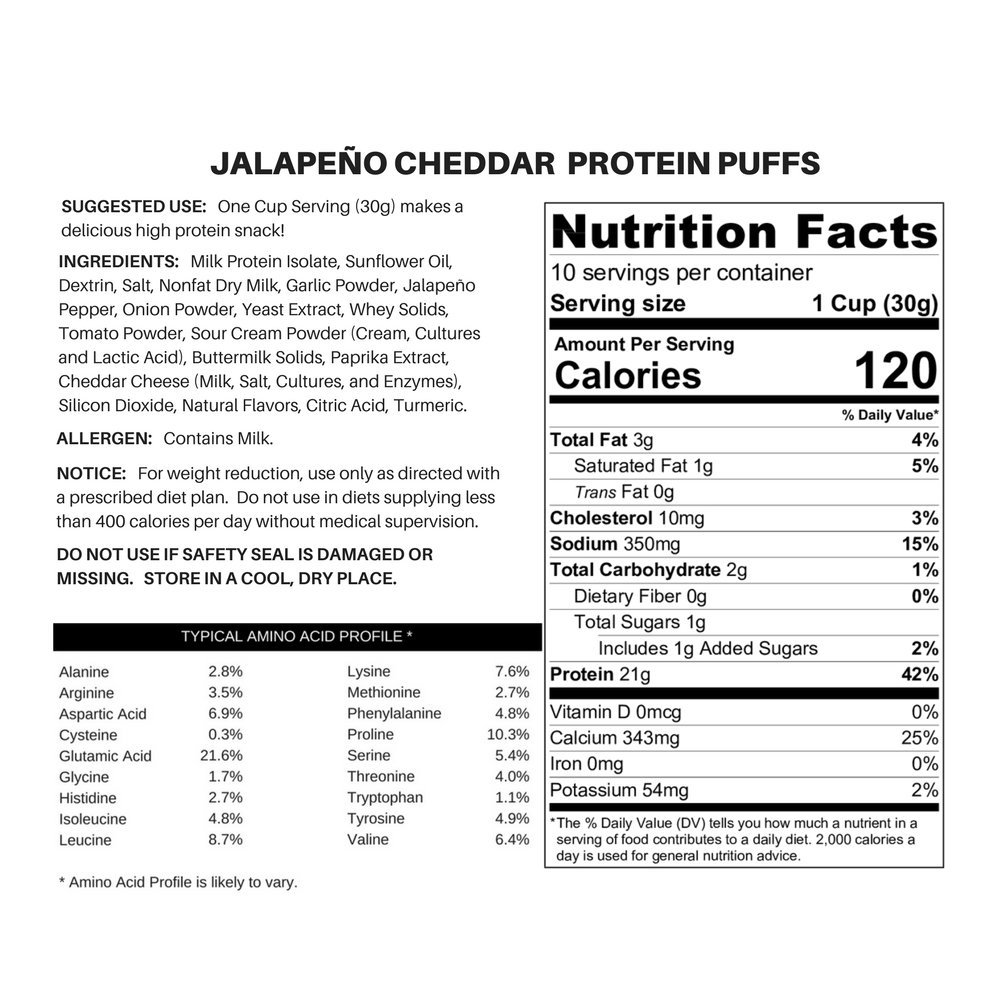 Twin Peaks Ingredients Protein Puffs