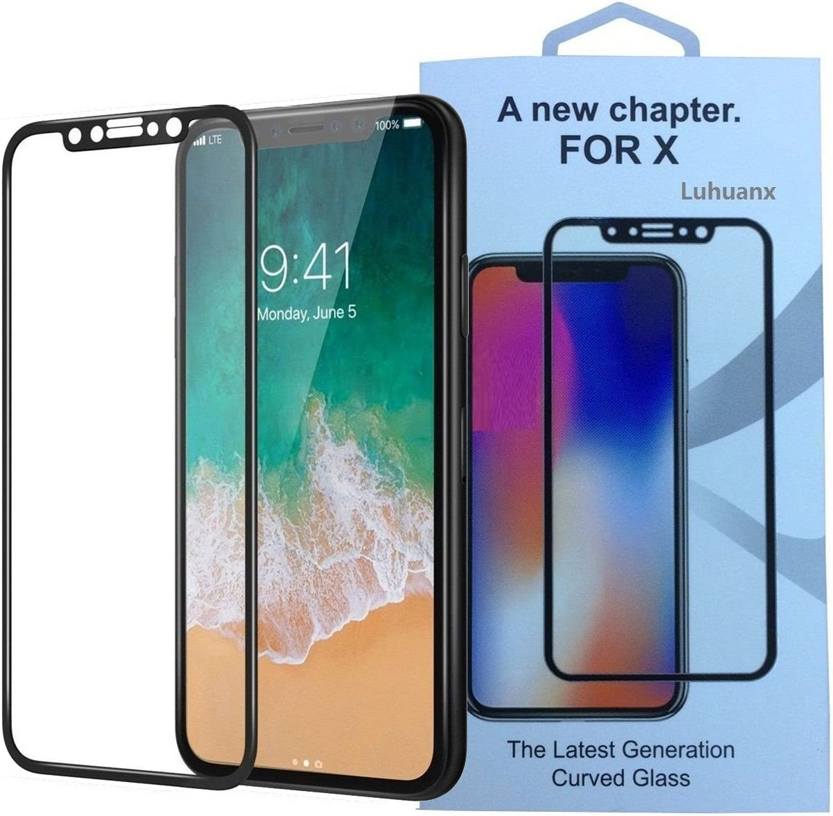 XHC Screen Protector Film 25 PCS Scratchproof 11D HD Full Glue Full Curved Screen Tempered Glass Film for Galaxy A9 Color : Black Black Tempered Glass Film // A9s // A9 Star 2018