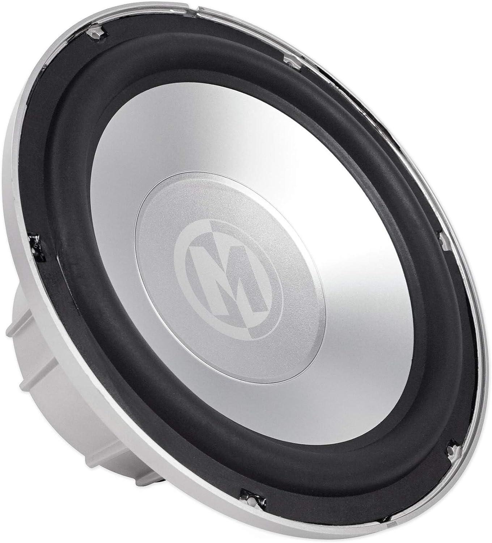 "Memphis Audio MXA1044 10/"" 500w LED Marine Boat Subwoofer+Mono Amplifier+Amp Kit"