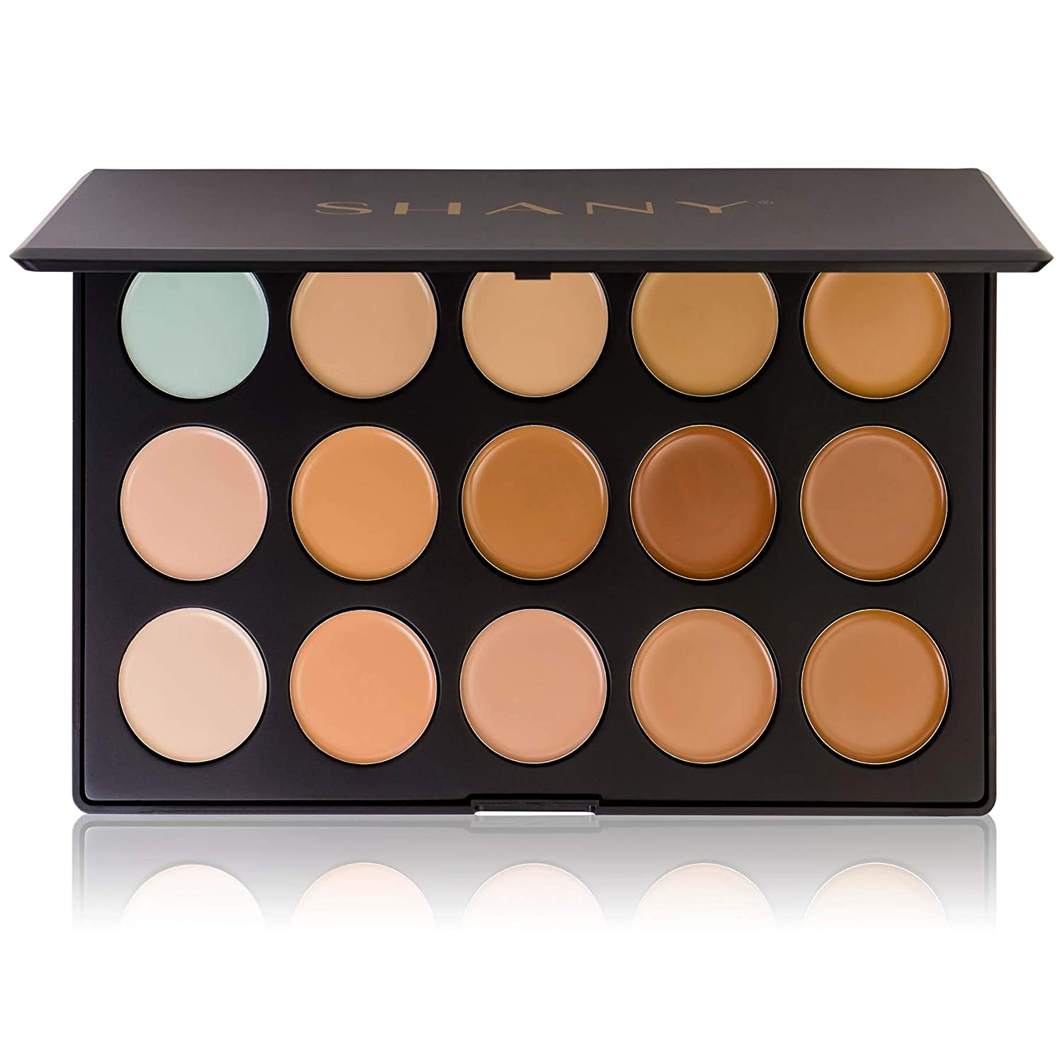 SHANY Professional Cream Foundation and Camouflage Concealer - 15 Color Palette