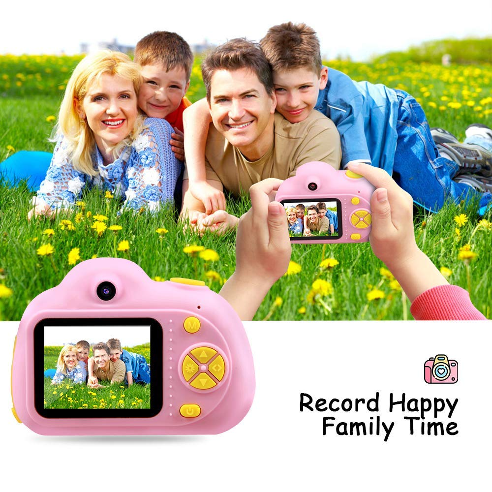 SHCY Best Gift for 3-8 Year Old Kids, Kids Camera for Girls, Outdoor Toys for 4-7 Year Old Girls Boys Children,8MP HD Video Camera, Pink(32GB SD Card Included) by SHCY (Image #6)