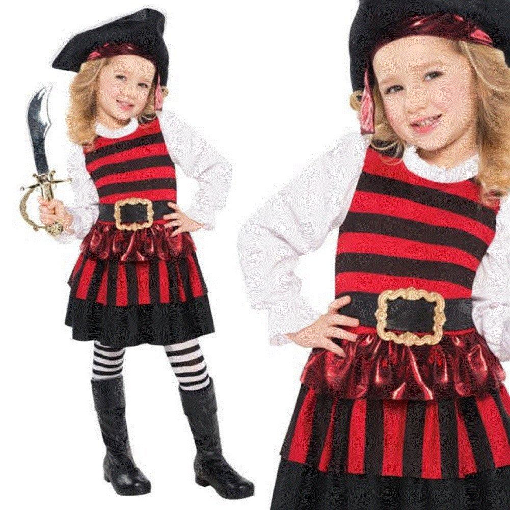 Amscan Toddler Girlハロウィン海賊デラックスコスチュームLittle Lassie   B07F22L538