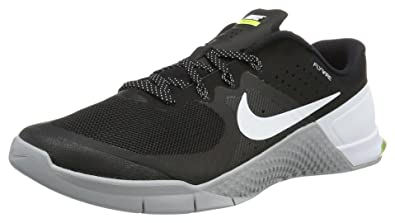NIKE Mens Metcon 2 Training Shoes Track Black/White/Wolf Grey 819899-001