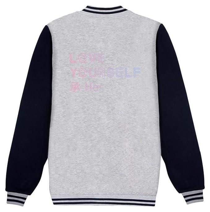 SERAPHY BTS Hoodie BTS Love Yourself Her Unisex con Sudadera BTS Chaqueta de béisbol Suga Jin Jimin Jung Kook J-Hope Rap-Monster V