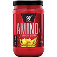 BSN Amino X Muscle Recovery & Endurance Powder with BCAAs, 10 Grams of Amino Acids, Keto Friendly, Caffeine Free, Flavor: Tropical Pineapple, 30 servings (Packaging may vary)