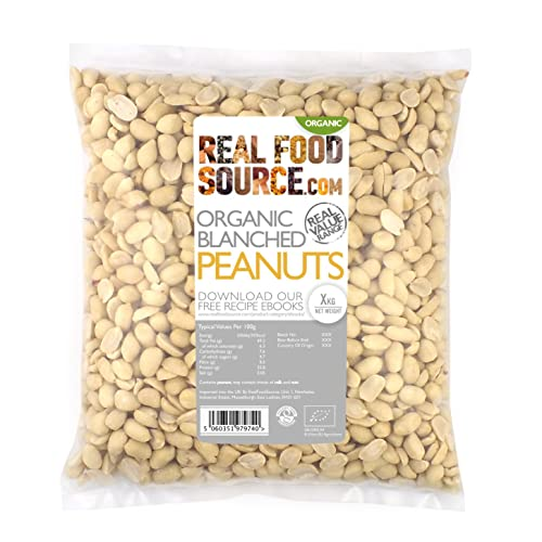 RealFoodSource Certified Organic Blanched Peanuts 1kg