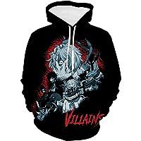 Japanese Acade-mia Superhero Hoodies Wonderful Hooded Sweatshirts Pullover Jacket with Pocket for Boys Girls