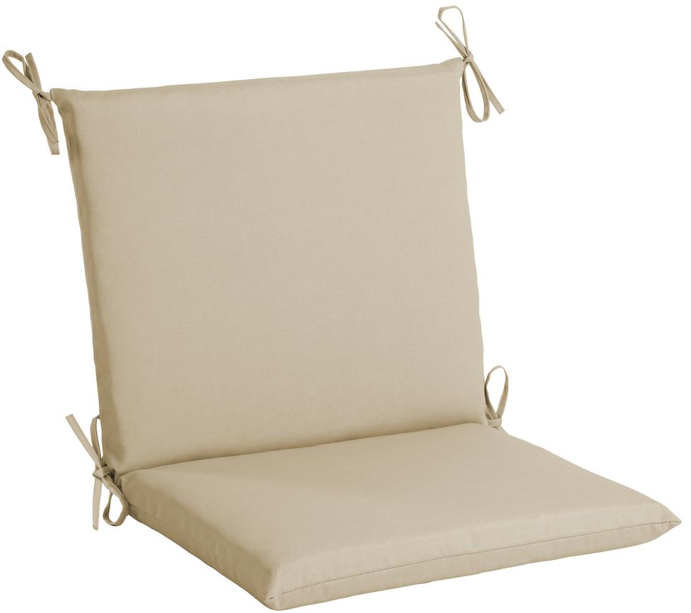 Hampton Bay Sky Tropical Mid Back Outdoor Dining Chair Cushion-TG0W527B-9D6 - The Home Depot