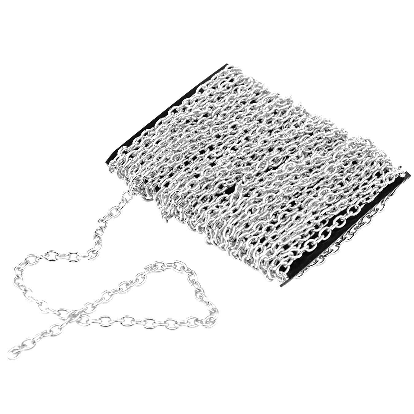 Dapped Small Cable in Bulk for Necklace Jewelry Making DIY 5 Meters Jewelry Making Chain Silver Plated Ishua 3*4mm Jewelry Making Chain