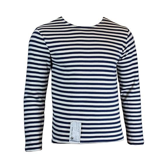 988413f824 Epic Militaria Russian Winter Navy Blue Striped Long Sleeve Telnyashka  Sweater Top: Amazon.co.uk: Clothing