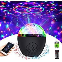Disco Ball Light Portable Bluetooth Strobe Lights with Remote (Battery Operated) 16 Color Sound Activated Party Light…