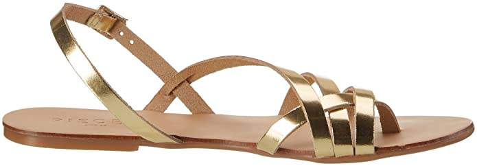 Pieces Women's Pslavina Leather Wedge Heels Sandals, Gold (Gold Colour), 3  UK: Amazon.co.uk: Shoes & Bags
