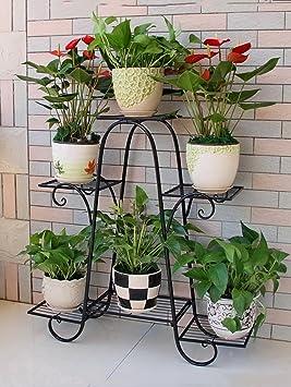 soporte macetas estanterias para macetas Sujetador de la flor del hierro, marco del hierro de la ...