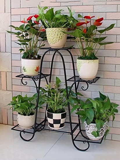 soporte macetas estanterias para macetas Sujetador de la flor del hierro, marco del hierro de