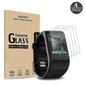 AKWOX [4 Unidades] Protector de Pantalla para Garmin Vivoactive HR ...