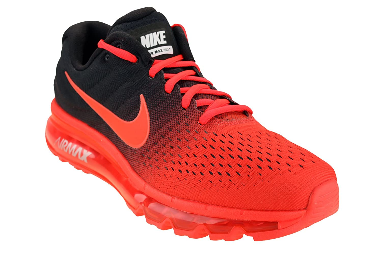 Nike Mens Air Max 2017 Running Shoes Bright CrimsonTotal CrimsonBlack 849559 600 Size 12.5