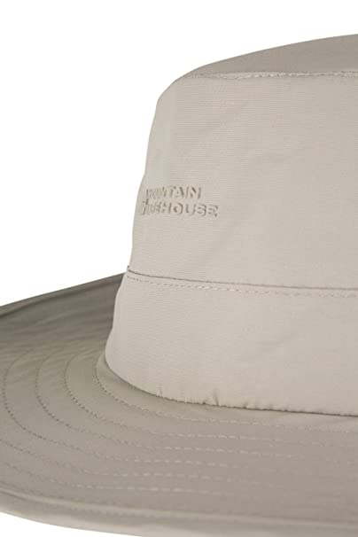 Mountain Warehouse Sombrero de ala ancha impermeable Explorer Beige Medium/Large: Amazon.es: Deportes y aire libre