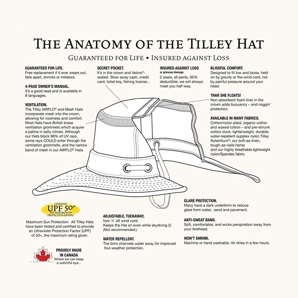 923e1db7f1b Tilley Hats LT5B Packable Sun Hat - Stone  Amazon.co.uk  Clothing