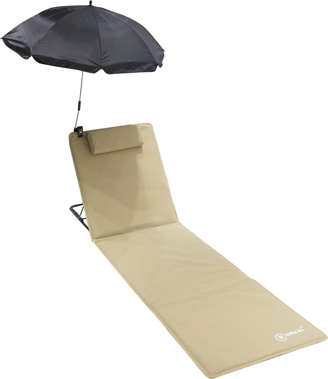 Homecall  Telo da spiaggia imbottito ad asciugatura rapida con ombrellone taglia XXL colore blu
