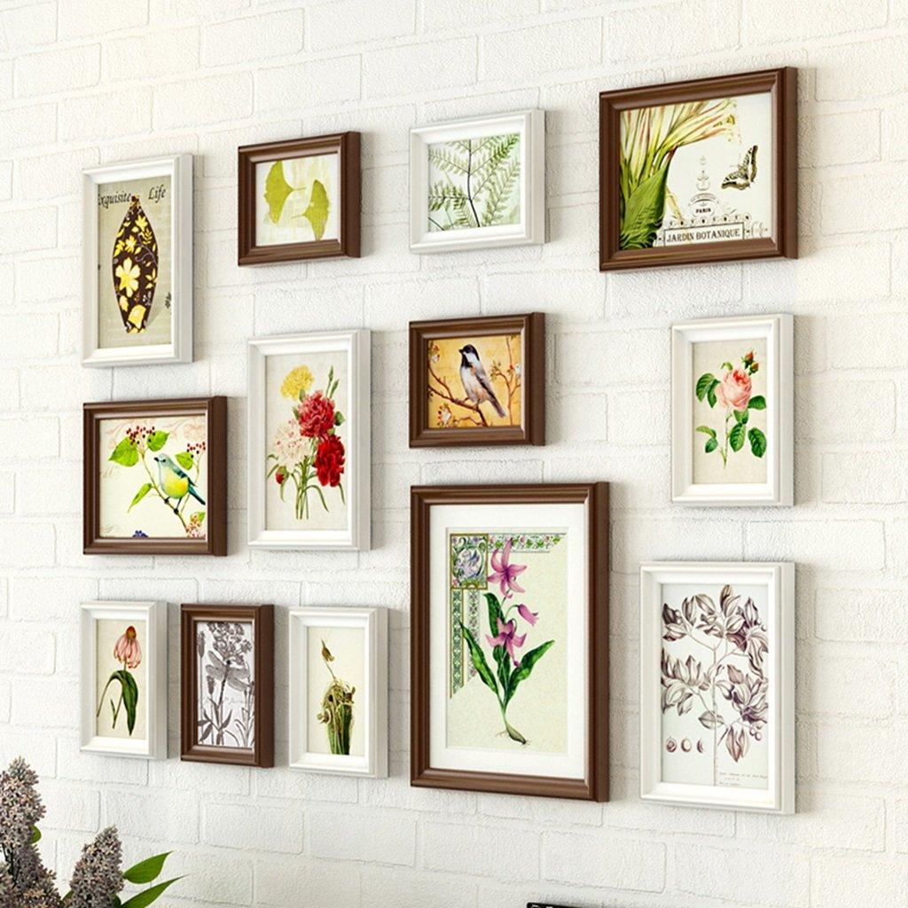 ZYANZ Irregular Wood Combination Photo Frame, Rectangular (13 Packages), Estimated Area Of 80 × 60cm