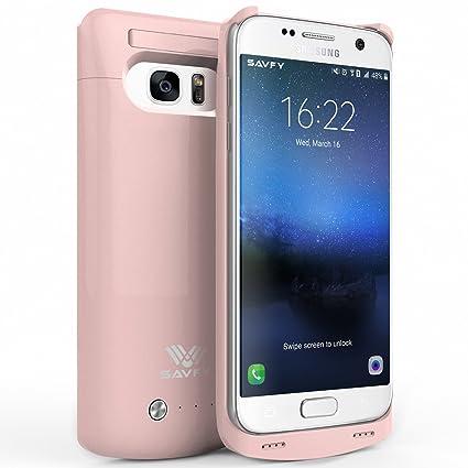 Amazon.com: Galaxy S7, Cargador, funda, SAVFY – 4200 mAh ...