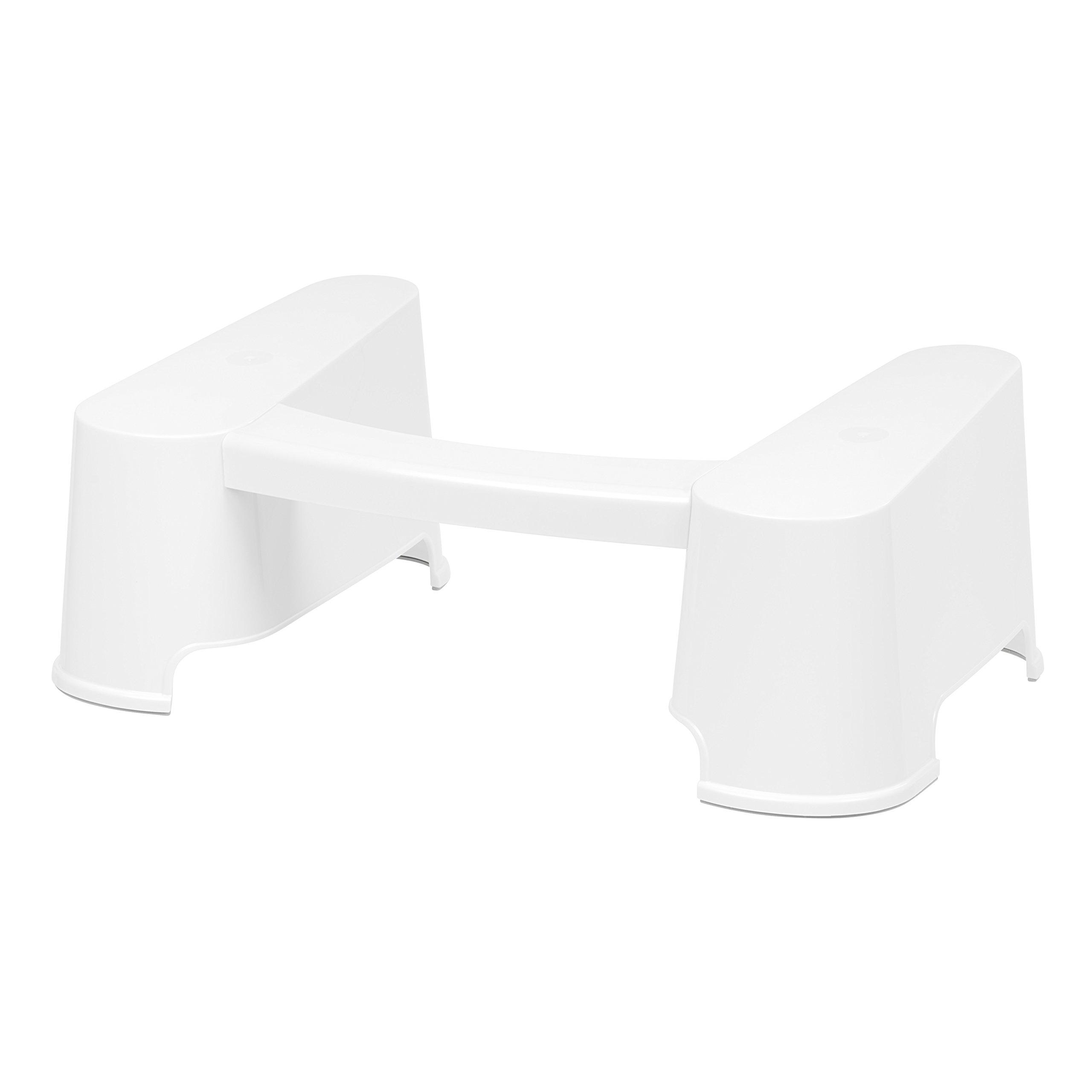 IRIS Toilet Buttler Bathroom Toilet Stool, White