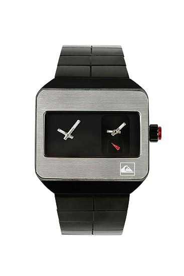 Quiksilver M118BF/2/ABLK - Reloj de caballero, correa de titanio color plata: Amazon.es: Relojes