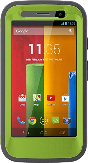 OtterBox Defender Series Case for Moto G - Retail Packaging - Key Lime at amazon