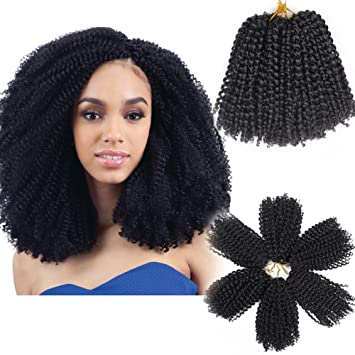 Amazon Com 3pcs Pack 10 Afro Kinky Twist Hair Crochet Braids