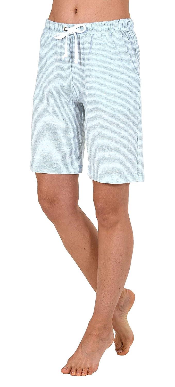 Streifenoptik 191 224 90 903 NORMANN W/ÄSCHEFABRIK Damen Bermuda Pyjama Hose kurz Mix /& Match
