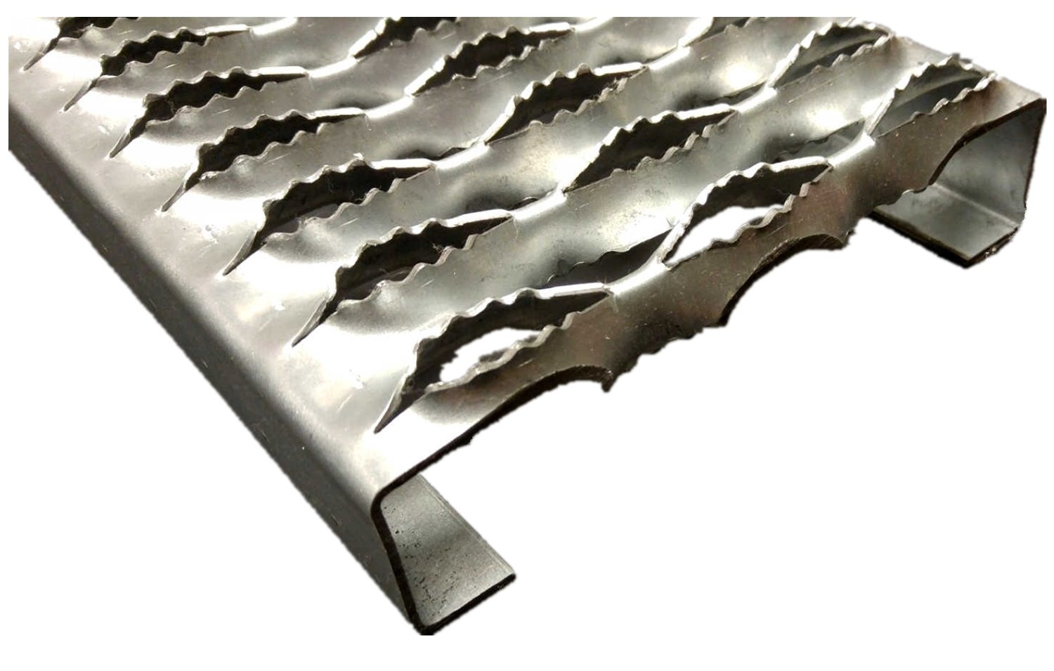 3332012-120 Grip Strut Channel Aluminum 3-Diamond Plank Safety Grating, 120'' Length x 7'' Width x 2'' Depth by Small Parts