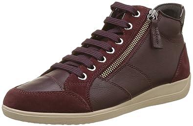 Damen D Myria C Hohe Sneaker, Schwarz (Black), 36 EU Geox