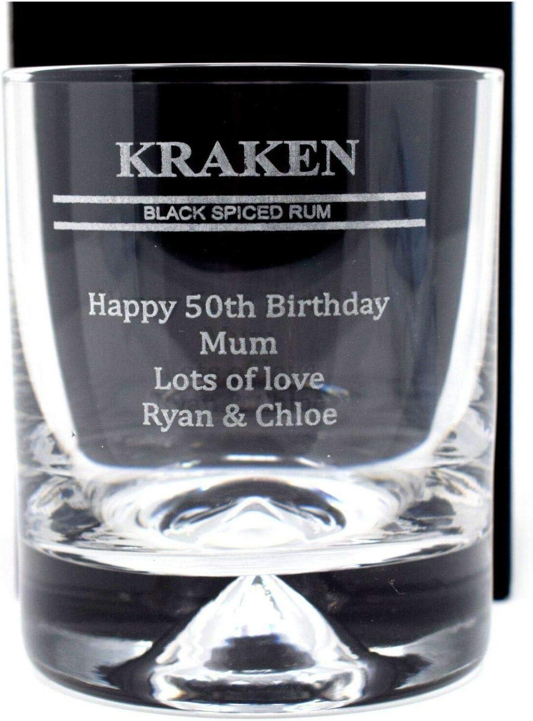 Vaso de cristal con diseño de ron de especias grabado ...