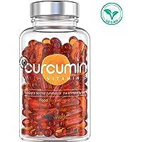 CURCUMINE ENRICHIT EN VITAMINE D - Extrait de Curcuma Naturel - 100% NovaSOL CURCUMIN - Puissant Anti Inflammatoire et Antioxydant - Anti Ballonnement & Constipation - Santé Cérébrale - WeightWorld