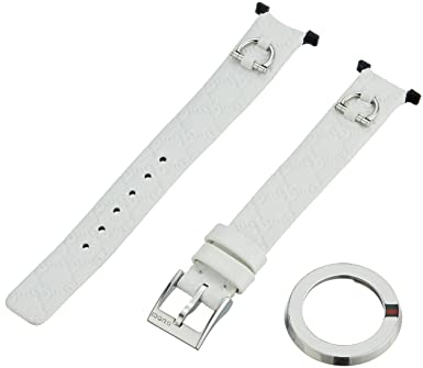 35f7274b295 Image Unavailable. Image not available for. Color  Gucci U-Play Kit Small  White Leather Watch Bracelet ...