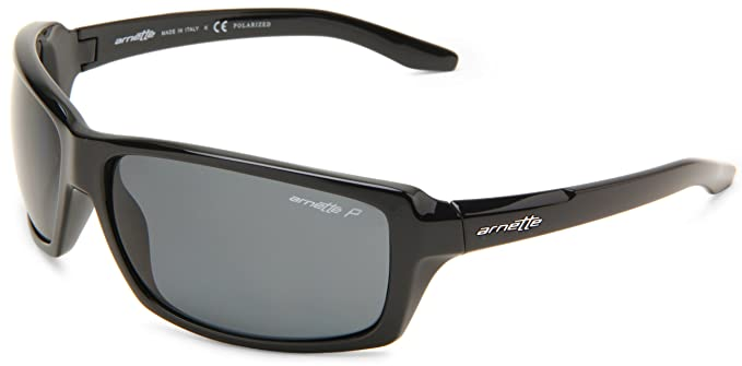 Arnette - Gafas de ciclismo para hombre, talla única, color brillo negro/gris